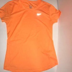 Orange Nike Dri-Fit Tee